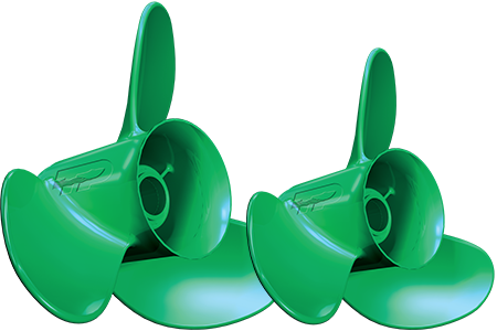 Green Stainless Steel Safer Boat Propeller With Rounded Edges Image